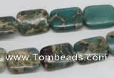 CSE5015 15.5 inches 12*16mm rectangle natural sea sediment jasper beads