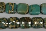 CSE5025 15.5 inches 14*14mm square natural sea sediment jasper beads
