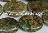 CSE5043 15.5 inches 22*30mm oval natural sea sediment jasper beads