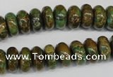 CSE5046 15.5 inches 6*12mm rondelle natural sea sediment jasper beads