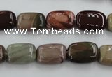 CSE5311 15.5 inches 8*14mm rectangle sea sediment jasper beads wholesale