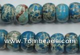 CSE63 15.5 inches 10*14mm rondelle dyed natural sea sediment jasper beads