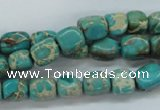 CSE78 15.5 inches 7*9mm nuggets dyed natural sea sediment jasper beads