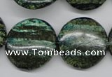 CSG21 15.5 inches 30mm flat round long spar gemstone beads wholesale