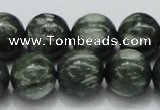 CSH06 15.5 inches 16mm round natural seraphinite gemstone beads