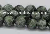 CSH08 15.5 inches 12mm faceted round natural seraphinite beads