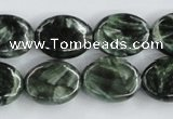 CSH14 15.5 inches 13*18mm oval natural seraphinite beads wholesale
