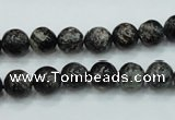 CSI01 15.5 inches 8mm round silver scale stone beads wholesale