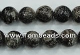 CSI03 15.5 inches 12mm round silver scale stone beads wholesale