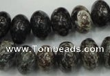 CSI07 15.5 inches 10*15mm rondelle silver scale stone beads wholesale