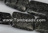 CSI117 15.5 inches 22*30mm rectangle silver scale stone beads