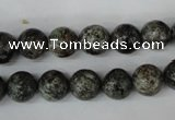 CSI12 15.5 inches 8mm round silver scale stone beads wholesale