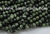 CSJ01 15.5 inches 4mm round green silver line jasper beads wholesale