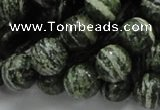 CSJ05 15.5 inches 12mm round green silver line jasper beads wholesale