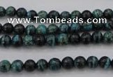 CSJ210 15.5 inches 6mm round dyed green silver line jasper beads