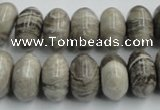CSL03 15.5 inches 9*16mm rondelle silver leaf jasper beads wholesale