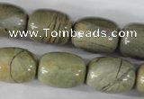 CSL107 15.5 inches 16*20mm drum silver leaf jasper beads wholesale