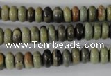 CSL108 15.5 inches 4*8mm rondelle silver leaf jasper beads wholesale