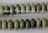 CSL109 15.5 inches 6*12mm rondelle silver leaf jasper beads wholesale