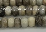 CSL130 15.5 inches 2.5*4.8mm faceted rondelle sliver leaf jasper beads