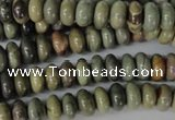 CSL18 15.5 inches 5*8mm rondelle silver leaf jasper beads wholesale