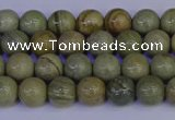 CSL200 15.5 inches 4mm round silver leaf jasper beads wholesale