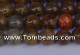 CSL222 15.5 inches 8mm round gold leaf jasper beads wholesale