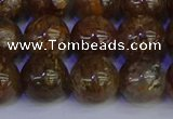 CSL225 15.5 inches 14mm round gold leaf jasper beads wholesale