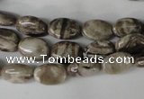 CSL40 15.5 inches 8*12mm oval silver leaf jasper beads wholesale