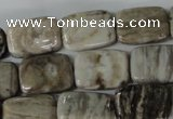 CSL68 15.5 inches 13*18mm rectangle silver leaf jasper beads wholesale