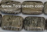 CSL70 15.5 inches 18*25mm rectangle silver leaf jasper beads wholesale
