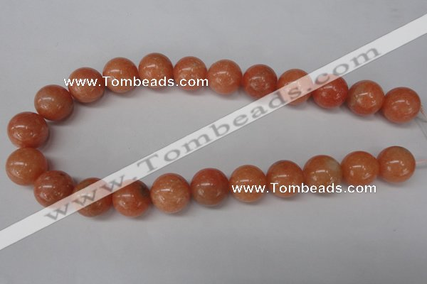 CSM08 15.5 inches 18mm round salmon stone beads wholesale