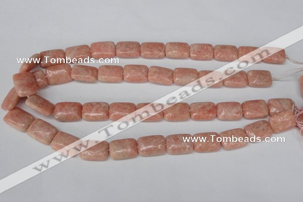 CSM21 15.5 inches 13*18mm rectangle salmon stone beads wholesale