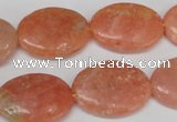 CSM37 15.5 inches 18*24mm oval salmon stone beads wholesale