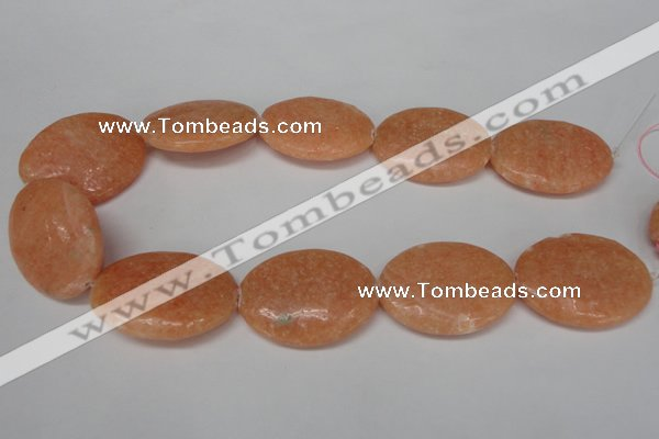 CSM40 15.5 inches 30*40mm oval salmon stone beads wholesale