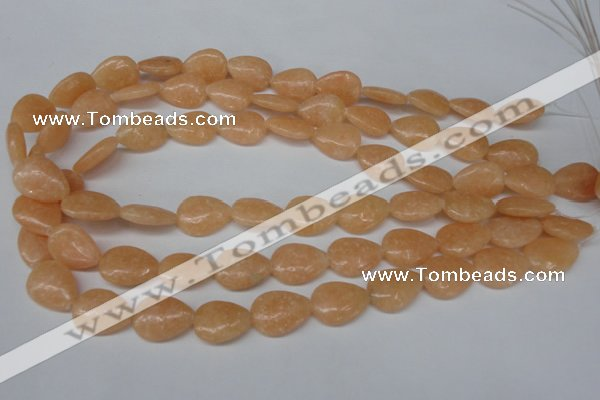 CSM45 15.5 inches 13*18mm flat teardrop salmon stone beads wholesale