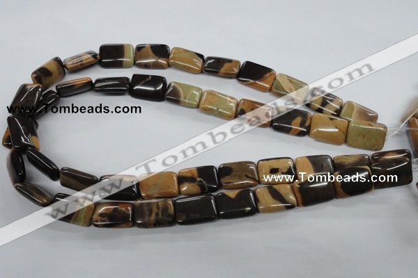 CSN05 15.5 inches 13*18mm rectangle new snake skin jasper beads