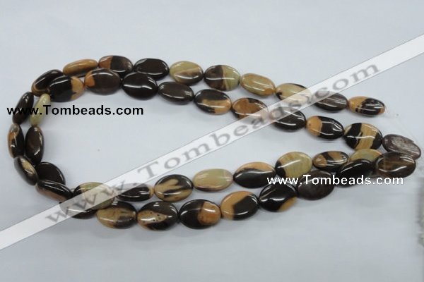 CSN06 15.5 inches 13*18mm oval new snake skin jasper beads