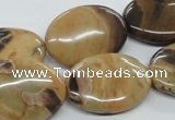 CSN08 15.5 inches 18*25mm oval new snake skin jasper beads