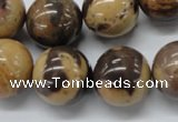 CSN17 15.5 inches 18mm round new snake skin jasper beads