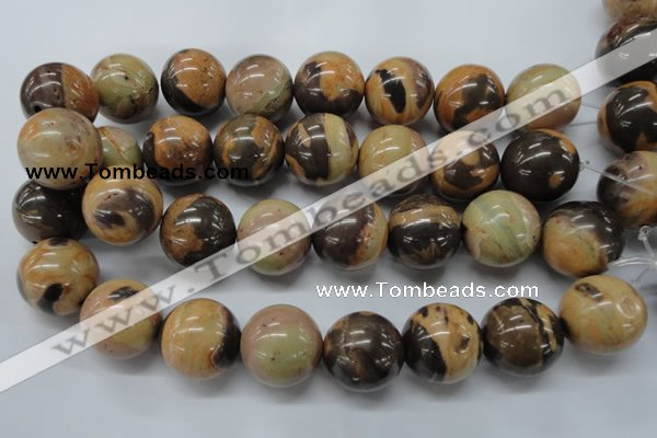 CSN19 15.5 inches 25mm round new snake skin jasper beads