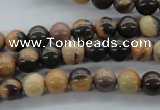 CSN20 15.5 inches 8mm round new snake skin jasper beads