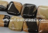 CSN25 15.5 inches 18*18mm square new snake skin jasper beads