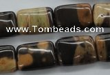 CSN27 15.5 inches 13*18mm rectangle new snake skin jasper beads