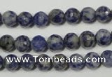 CSO302 15.5 inches 8mm faceted round Brazilian sodalite beads