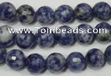 CSO303 15.5 inches 10mm faceted round Brazilian sodalite beads