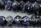 CSO355 15.5 inches 10*16mm faceted rondelle natural sodalite beads