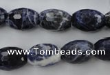 CSO363 15.5 inches 12*16mm faceted rice natural sodalite beads