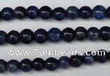 CSO400 15.5 inches 4mm round dyed sodalite gemstone beads