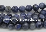 CSO41 15.5 inches 8mm round sodalite gemstone beads wholesale